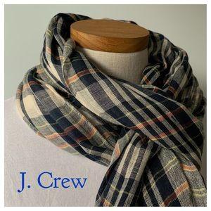 J. CREW Plaid Scarf /Shawl
